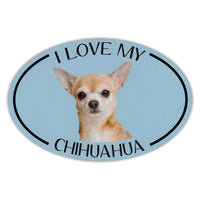 Oval Dog Magnet - I Love My Chihuahua