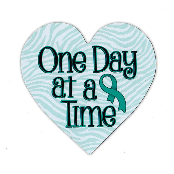 "Magnet - Cervical Cancer Support Heart (4.25"" x 4.5"")"