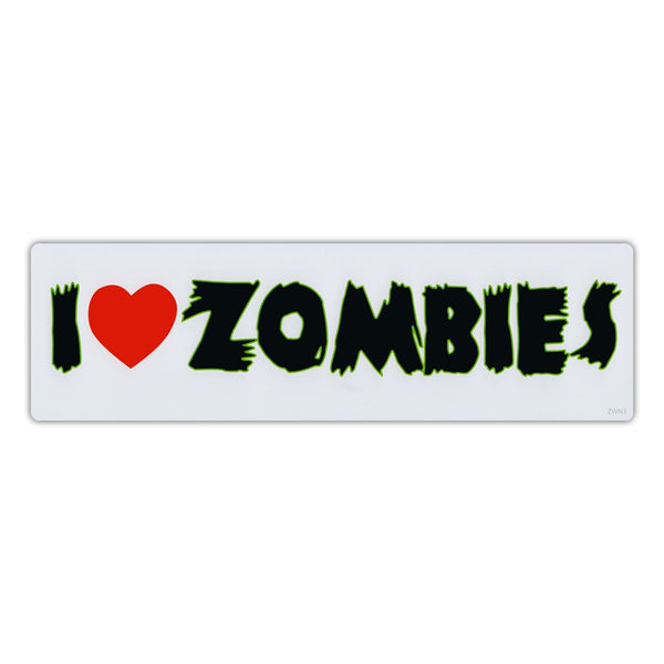 Bumper Sticker - I Love Zombies