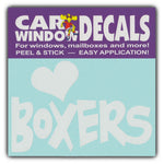 "Window Decal - Love Boxers (4.5"" Wide)"