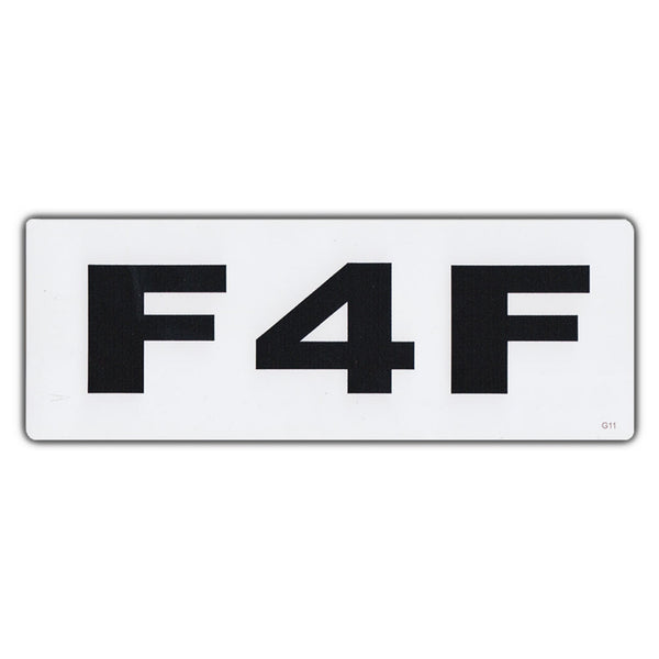 Bumper Sticker - F4F Female For Female