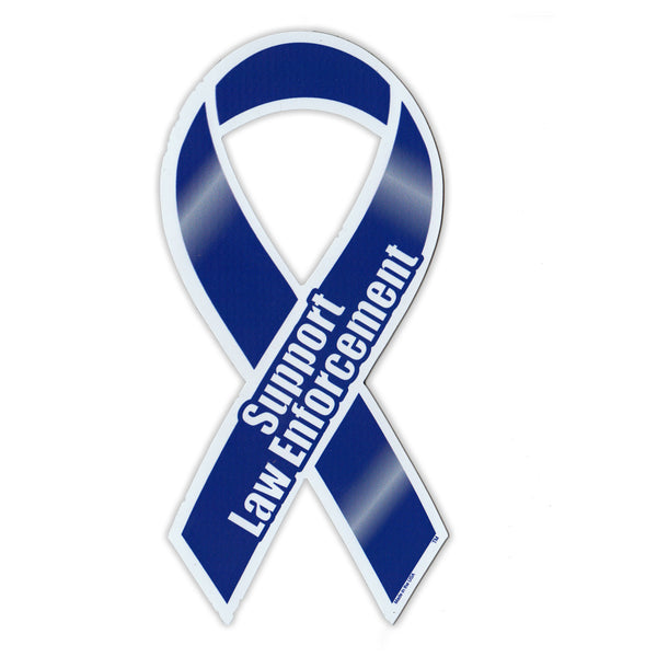 Ribbon Magnet - Support Law Enforcement