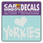 "Window Decal - Love Yorkies (4.5"" Wide)"