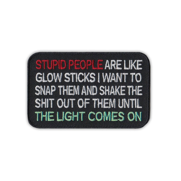 Stupid People Glow Sticks, Snap/Shake Until Light Comes On