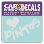 "Window Decal - Love Pintos (4.5"" Wide)"