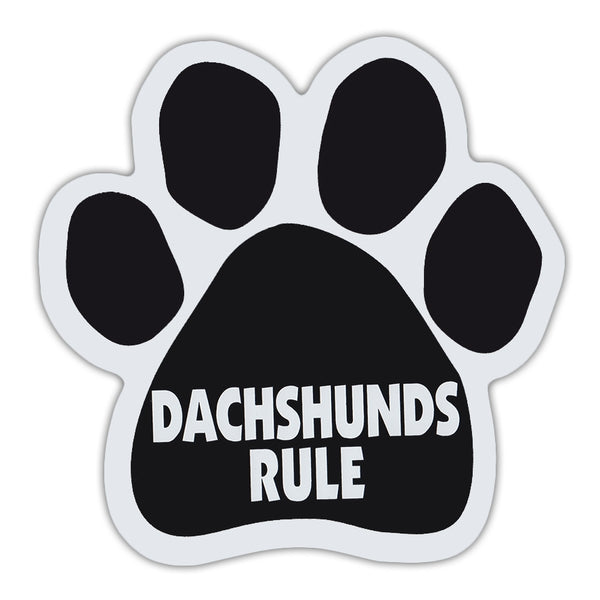 Dog Paw Magnet - Dachshunds Rule