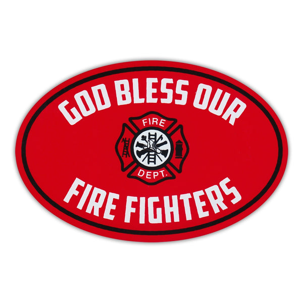 Oval Magnet - God Bless Our Fire Fighters