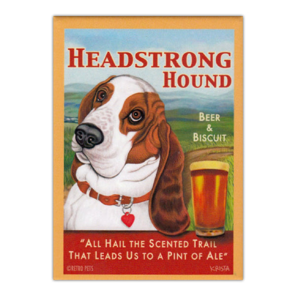 Refrigerator Magnet - Headstrong Hound Beer & Biscuit