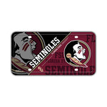 Embossed Aluminum License Plate Cover - Florida State Seminoles