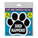 "Window Decals (2-Pack) - Shed Happens! (4.25"" x 4"")"