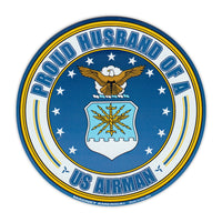 Round Magnet - Proud Husband of a US Airman