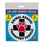 "Window Decals (2-Pack) - Animal Rescue Transport Vehicle (4"" Diameter)"