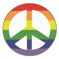 Bumper Sticker - Rainbow Color Peace Sign
