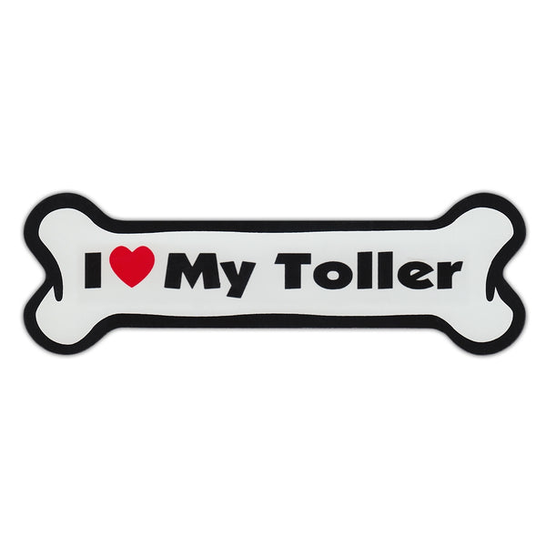 Dog Bone Magnet - I Love My Toller