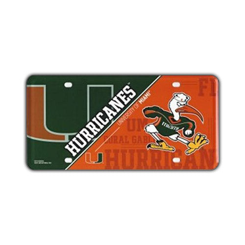 Embossed Aluminum License Plate Cover - University of Miami