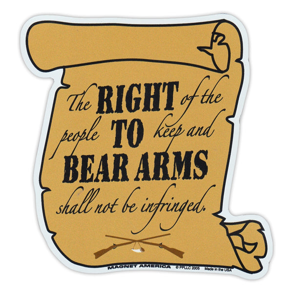"Magnet - 2nd Amendment, Right To Bear Arms (4.5"" x 4.5"")"
