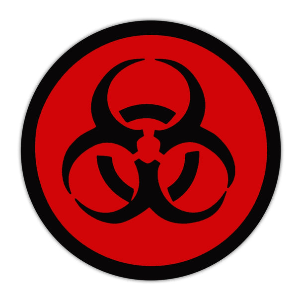 Bumper Sticker - Red Zombie Symbol