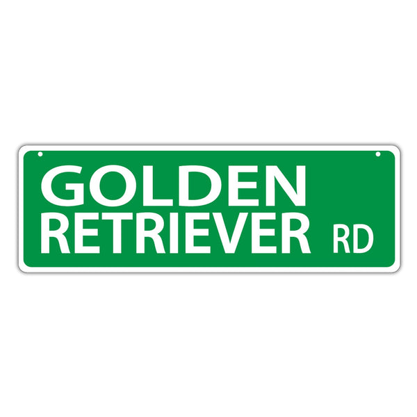 Street Sign - Golden Retriever Road