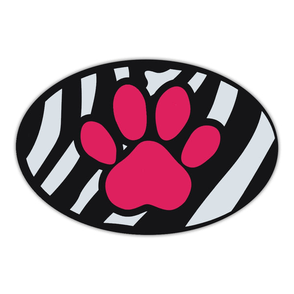 Oval Magnet - Pink Dog Paw