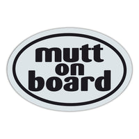 Oval Magnet - Mutt On Board