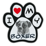 Picture Paw Magnet - I Love My Boxer