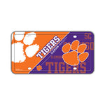 Embossed Aluminum License Plate Cover - Clemson University Tigers