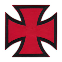 Back Patch, Red and Black Chopper Cross
