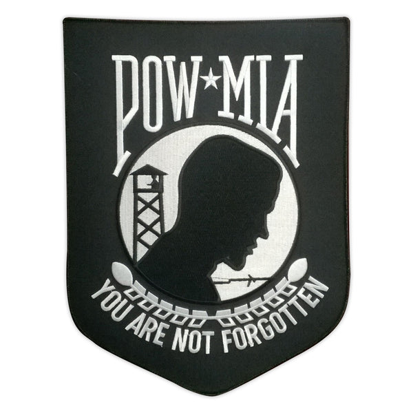 Embroidered Patch, Back Patch, POW MIA You Are Not Forgotten