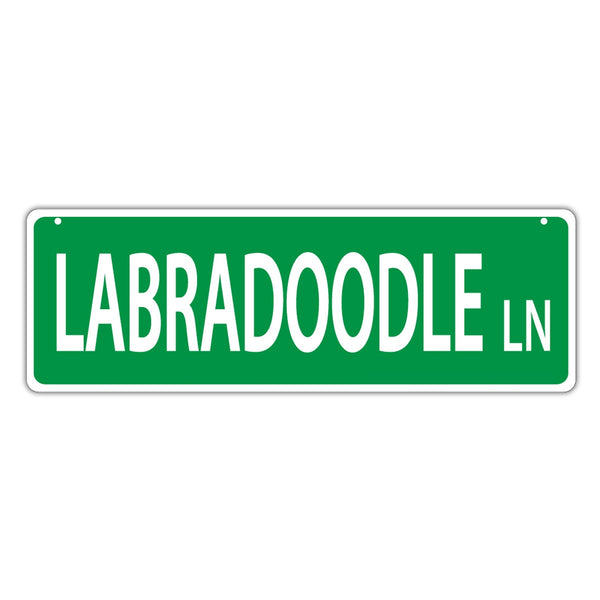 Novelty Street Sign - Labradoodle Lane (Labrador Retriever Poodle)