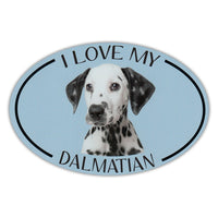 Oval Dog Magnet - I Love My Dalmatian