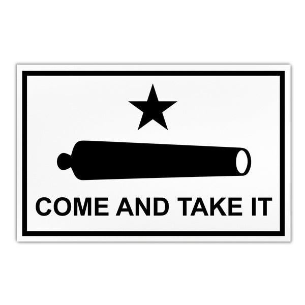 "Magnet - Large Size, Come and Take It Flag (Cannon) (8.5"" x 5.5"")"