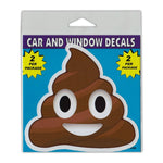 "Window Decals (2-Pack) - Poop Emoji (4.5"" x 4.25"")"
