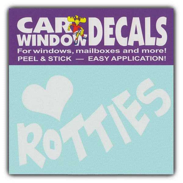 "Window Decal - Love Rotties (4.5"" Wide)"