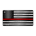 Aluminum Keychain - Thin Red Line United States Flag (Fire Department)