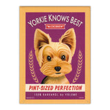 Refrigerator Magnet - Yorkie Knows Best Microbrew, Pint-Sized Perfection