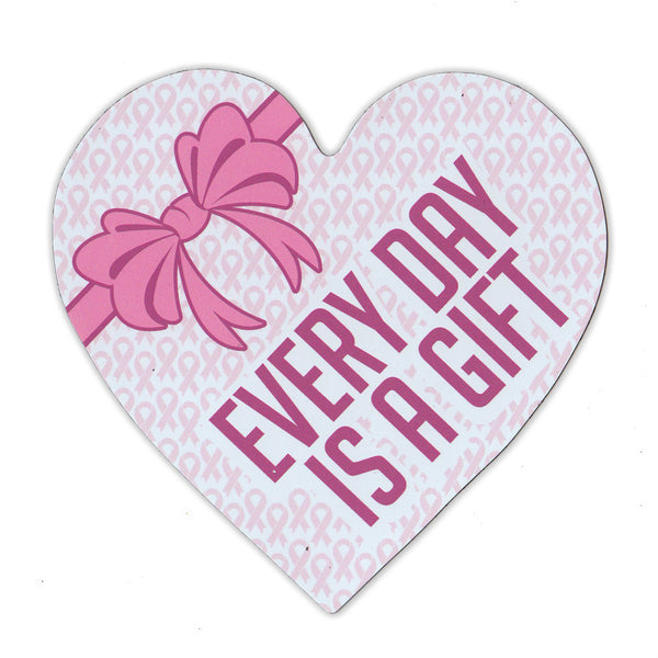 "Magnet - Breast Cancer Support Heart (4.25"" x 4.5"")"