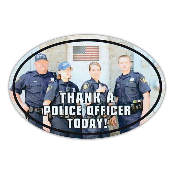 Oval Magnet - Thank A Police Officer