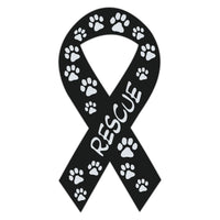 Ribbon Magnet - Rescue (Black)