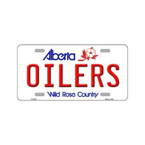 NHL Hockey License Plate Cover - Edmonton Oilers