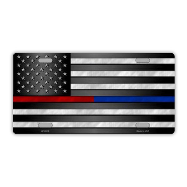 United States Flag Thin Red Line, Thin Blue Line