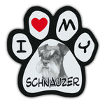Picture Paw Magnet - I Love My Schnauzer