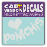 "Window Decal - Love Pomchis (4.5"" Wide)"