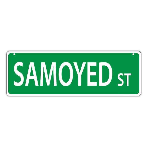 Novelty Street Sign - Samoyed Street