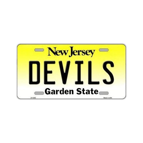 NHL Hockey License Plate Cover - New Jersey Devils
