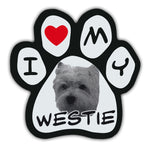 Picture Paw Magnet - I Love My Westie