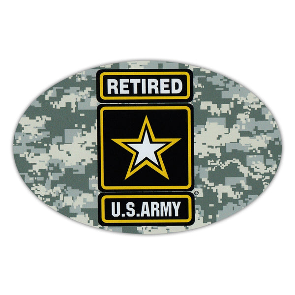 Oval Magnet - US Army Retired