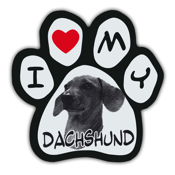 Picture Paw Magnet - I Love My Dachshund