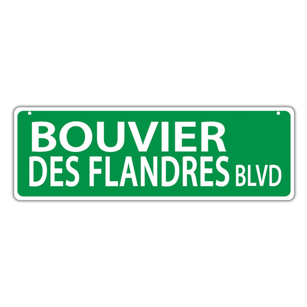 Street Sign - Bouvier des Flandres Blvd