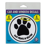 "Window Decals (2-Pack) - Paw Prints In Heaven (4"" Diameter)"