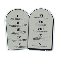 "Magnet - 10 Commandments on Stone Tablets (5.5"" x 4.5"")"